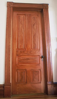 1800's faux wood grain door in Healdsburg