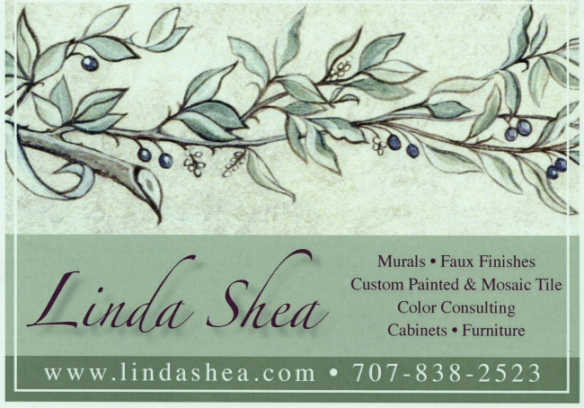 Linda Shea Design - Murals Faux Finishes Furniture Cabinets Mosaic Tile