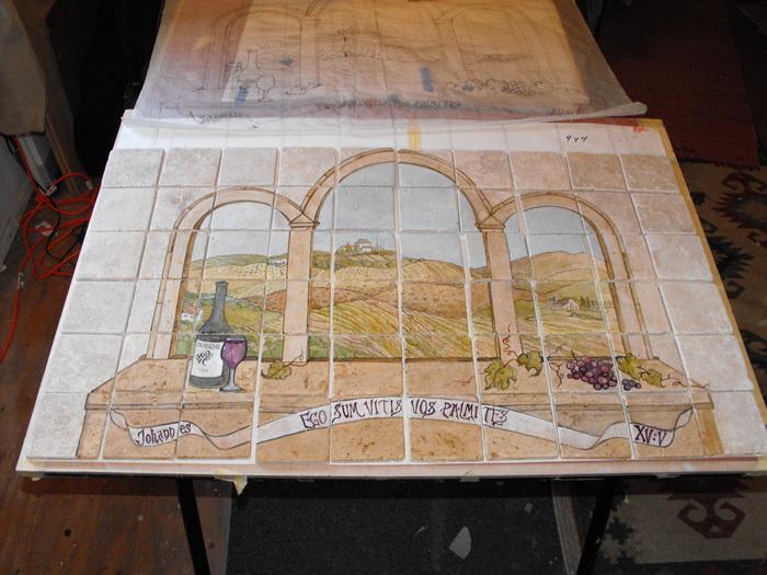Linda shea sonoma artist for illustrations murals for Shea custom home plans